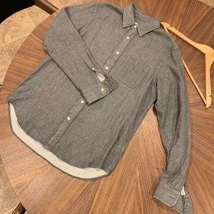 Club Monaco gray button up casual shirt, slim fit